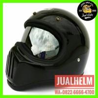 Helm Cakil HBC Polos Dengan Inner Visor Chrome