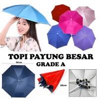 Super murah diskon! Topi Payung kepala besar diameter 60cm grade A 60