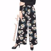 best product Celana Kulot Wanita Motif Panjang Warna Hitam Motif Bung