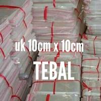 plastik seal opp uk 10cm x 10cm ( 100 lbr )