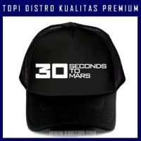Topi 30 Seconds to Mars 2 Distro Trucker Baseball Snapback TSS02 93e7c96514