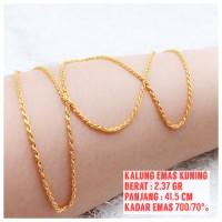 harga Kalung Emas Kuning Tokopedia.com