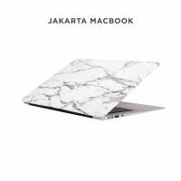 Bagus keren Case Macbook Pro 13 Inch White Grey Marble