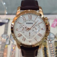 Fossil FS4991 Grant Chronograph Brown Leather Watch