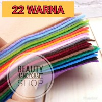 paket irit kain flanel 22 warna gradasi ukuran 25x23cm