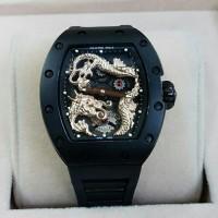 Jam Tangan Pria Mewah Richard Mille RM 057 Black Rosegold