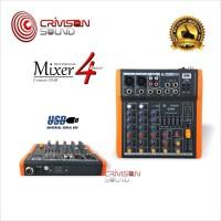 Harga mixer 4 channel usb equalizer crimson | Hargalu.com