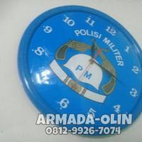 Jam/Jam dinding Polisi militer / Jam dinding logo / Jam dingding warna
