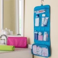 Wash bag lipat panjang / tas perlengkapan mandi lipat/ Tas Kosmetik