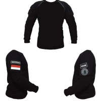 baju kaos tactical hitam polos plus patch resintel