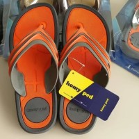 SENDAL SANDAL JEPIT SANTAI HOMYPED RACING ORANGE DISKON 43 T2909