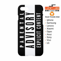 parental advisory case samsung j5 j7 a5 s7 s8 iphone 4 5 6 7 8 x plus