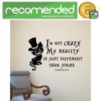 Sticker Wallpaper Dinding Cheshire Cat - Hitam