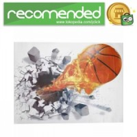 Sticker Wallpaper Dinding Fire Ball - Basket Ball