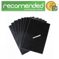 Stiker Papan Tulis A4 Removable 8pcs - Hitam