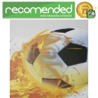 Sticker Wallpaper Dinding Fire Ball - Soccer Ball