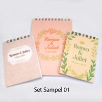 Paket Sampel Notes Souvenir pernikahan / gathering / ultah