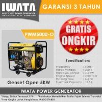 Genset Diesel IWATA 5KVA Open - PWM5000-O