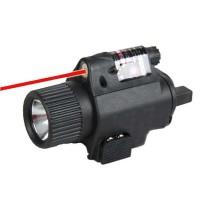 Senter Senapan Tactical Quick Release Rail Mount dengan Laser 5mWpromo