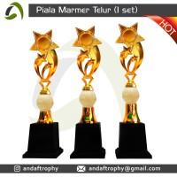 Piala/Trophy Marmer onix telur 1 set