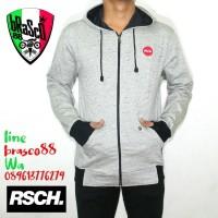 jaket sweater cowo - jaket distro- jacket hoody -jaket rsch white milk