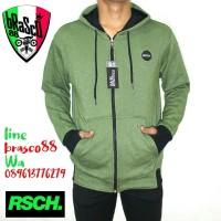 jaket sweater cowo - jaket distro- jacket hoody -jaket rsch green soft