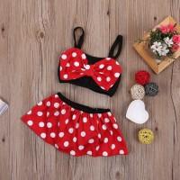 Baju Renang Anak Bayi Baby Swimsuit Swimwear Minnie Mouse Bikini Tikus