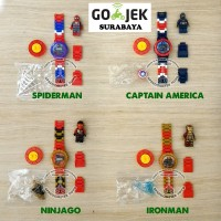 Jual Jam Tangan Arloji Anak Blocks (lego) Avengers Superhero | Mainan Anak Murah