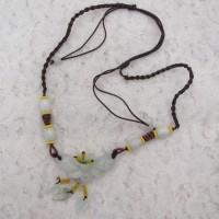 Harga kalung etnis etnik batu giok bunga anggrek orchid flower | Pembandingharga.com