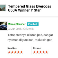 Jual Tempered Glass Evercoss U50A Winner Y Star Murah