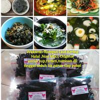 wakame rumput laut kering halal dried seaweed nori sup jepang korea