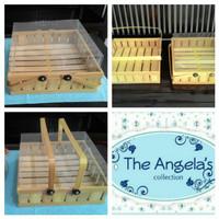 Kotak hantaran / seserahan kue atau buah berbahan bambu ( isi 2 )