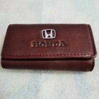 Dompet Kulit ASLI Premium STNK gantungan kunci mobil motor HONDA 100