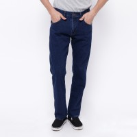 Edwin Celana Jeans Reguler Fit Pria Panjang Medium Blue Vegas 04