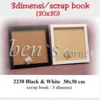 frame foto 3 dimensi /scrapbook uk.30x30 minimalis