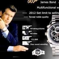 Jam Tangan Spy Mata2 James Bond 007 Kamera + 8 GB Sd Micro/TF Memory