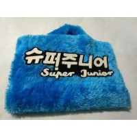 Super junior/suju 10-14 inch bulu rasfur hangul softcase tas laptop