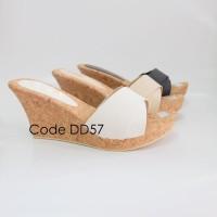 sepatu wanita online jakarta sandal wedges DD57
