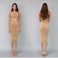 Set dress Scuba Nude