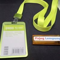 Tanda Pengenal Name Tag ID Card Aluminium Alloy Model 6 - HIJAU