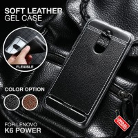 Soft Leather Gel Case Lenovo K6 Power Softcase Silikon Silicon Casing