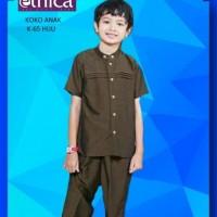 baju Anak I Baju Ethica I Baju Koko Anak K 65 HIJAU NO 9