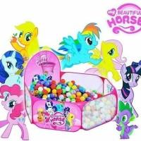 Mainan New Keranjang Mandi Bola My Little Pony+ Mandi Bola 10 Pcs