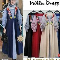 baju muslim gamis elegan mewah pesta glamor dress maxy longdress hijab