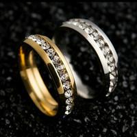 murah Cincin pernikahn mutiara sekeliling bahan baja Titanium Stainles