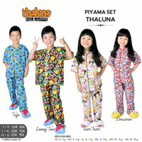 Piyama Set Thaluna Character Edition size SM Baju Tidur Anak Uniseks