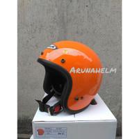 Helm Retro Zeus ZS 385 Orange