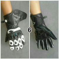 sarung tangan kulit full (dainese) plus protektor