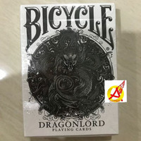 bicycle dragon lord white edition + bonus deck includes 5 gaff
