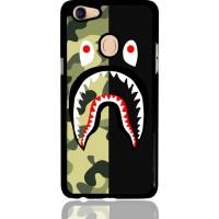Half Camo Bape Shark Face Pattern L1951 Oppo F5 Custom Case